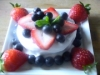 Raw Fruit Custard Cake by Chef June